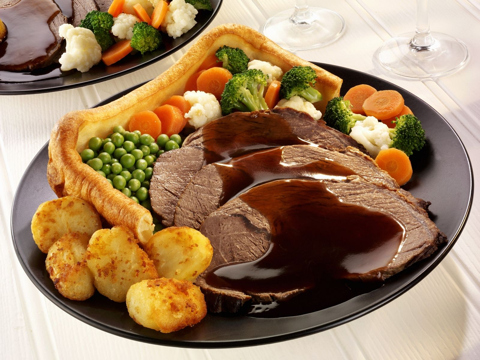 Roast Beef & Yorkshire Pudding - British Meals