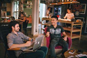 Network with others at a hip Co-Working Space